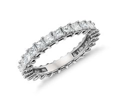 Princess Cut Diamond Eternity Ring in Platinum | Click for your chance to win a $1000 gift card from Blue Nile!