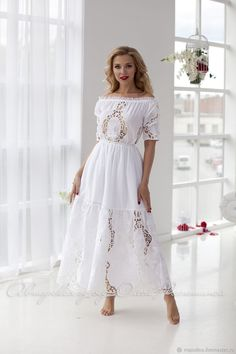 New Dress Long White Vestidos Ideas Casual Summer Dresses, Modest Dresses, Trendy Dresses, Day Dresses, Nice Dresses, Edgy Dress, Retro Dress, Vestidos Color Blanco, Snow Dress