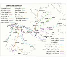 Routes to Santiago