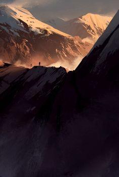 high climb towards the sunset