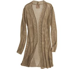KRISTINA TI Tricot Metallic Cardigan ($299) ❤ liked on Polyvore