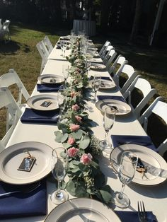 20 foot garland runner for head table.