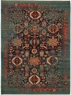 Jan Kath combines traditional Persian ornamentation with his trademark distresse… Cost Of Carpet, Rugs On Carpet, Persian Carpet, Persian Rug, Jan Kath, Classic Rugs, Area Rug Runners, Carpet Stairs, Carpet Design
