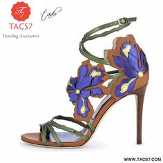 5c99f9fe401f1d Ladies Shoe. New Summer Thin Heels Stiletto High Heel Embroidery Sandals  Plus Size Blue Flower Cover Heel Ankle Buckle Strap ...