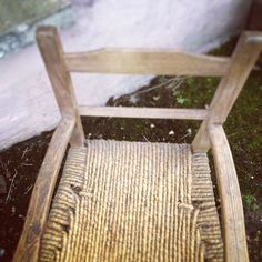 Traditional Irish Súgán Chair. Most households in rural Ireland would have used these types of chairs. Produced using local materials and craft. The word 'Súgán' translates as straw in Gaelic. This chair was built by deaf students in a school in Dublin in the 1960s. Photograph by Alva Mac Gowan