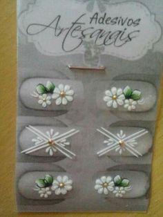 Mais Sunflower Nail Art, Nail Jewels, Nails First, Trendy Nail Art, Flower Art, Art Flowers, Nail Manicure, Nail Arts, Glitter Nails