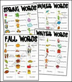 season words vocab