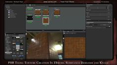PBR Tiling Texture Creation in ZBrush, Substance Designer and Knald