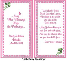 card verse for baby christening or baptism - Google Search