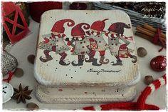 Купить Новогодняя шкатулка Время Чудес - шкатулка, шкатулка декупаж, шкатулка деревянная, гномики, чудеса