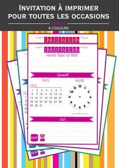 invitation anniversaire simple pour toutes les occasions à imprimer