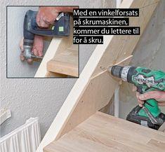 Så enkelt lager du din egen trapp - viivilla.no Drill, Arch, Scale, Garden, House, Stairs, Weighing Scale, Hole Punch, Longbow