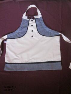 Delantal reversible  Manualicraft - Amigurumi, scrap y costura creativa