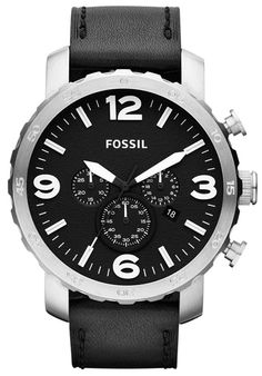 Fossil Men's Black Dial Black LeatherFossil JR1436 Watch | ewatches.com | Get up to 12.5% Cashback when you shop at ewatches.com as a DubLi member! Not a member? Sign up for FREE today! www.downrightdealz.net