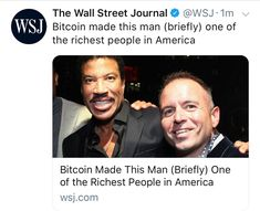 Bitcoin Made This Man (Briefly) One of the Richest People in America
