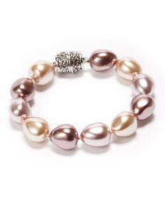 Another great find on #zulily! Beige & Taupe Baroque Pearl Stretch Bracelet #zulilyfinds