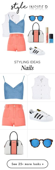 """""""Weekend chill"""" by fancy-chic on Polyvore featuring Kenneth Cole Reaction, Rhythm in Blues, River Island, Illesteva, adidas and NARS Cosmetics"""