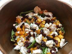 Chicken feta squash salad
