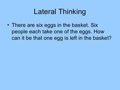 Lateral Thinking Puzzles - Great for sharpening your problem solving skills…