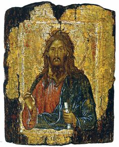 Saint John the Baptist, circa from Constantinople, from the collection of the British Museum. Byzantine Icons, Byzantine Art, Russian Icons, Russian Art, Religious Icons, Religious Art, Roman Church, Christian Religions, Christian Art