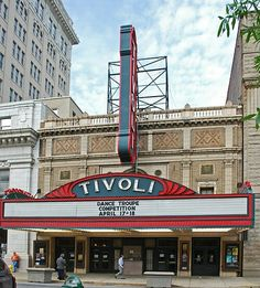 The historic Tivoli Theater in Downtown Chattanooga. The Tivoli has been beautifully restored and is frequently used today.