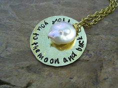 I Love You To The Moon And Back Necklace Guess by KottageKreations, $27.00