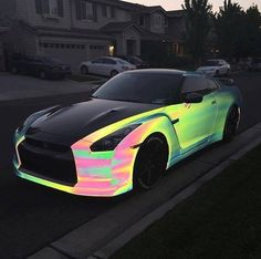 This paint tho!!!  it looks holographic  I want this car so bad!!!