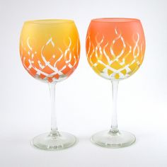 even though glass holds liquid its forged in fire these goblets are perfect fire