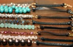 leather and stone bracelets from Gem Jewelry Boutique in Oak Park, IL