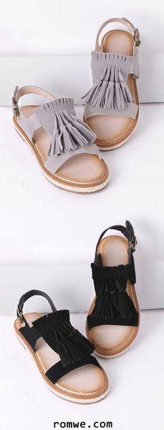 Tassel Espadrille Flat Sandals