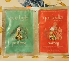 Que Bella Samples Mud Mask and Peel off mask.. Pending