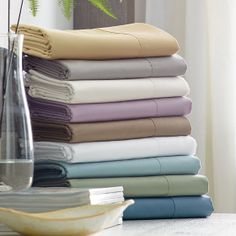 450-Thread Count Wrinkle-Free Solid Bedding in Wisteria