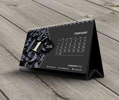 Desk Calendar 2016 Template KB20-W11 by CalendarsTemplates on Etsy