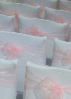 Blush sashes - delicate and pretty