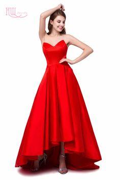 Aliexpress.com: Comprar Sexy Alto Bajo 1950's Prom Vestidos Sweetheart Drapeado Rojo Trasero Largo Delantero Corto Cóctel Formal Vestido de Fiesta 2016 Vestidos de vestidos de baile fiable proveedores en Honeywedding