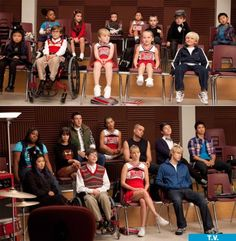 Fans_Glee discovered by Natalie ♔ on We Heart It - 10 years later…the glee cast - Glee Memes, Glee Quotes, Funny Quotes, Series Movies, Movies And Tv Shows, Tv Series, Rachel And Finn, Outfits Hombre, Glee Club