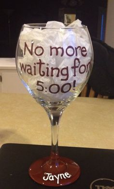 Retirement gift. Custom wine glass. Personalized by daintyaffair, $24.50