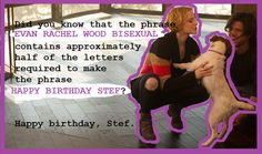 A birthday card for Stef via HAPPY BIRTHDAY STEF! LOVE, A+ AND THE INTERNET by Kelsey O.