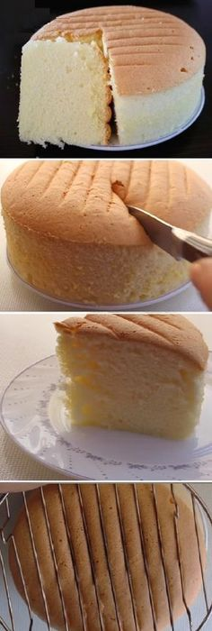 """Suavecito bizcocho de algodón """"vainilla"""" Un Sueño! #bizcochosuavecito #vainilla #suavecito #algodon #sueno #postres #cheesecake #cakes #pan #panfrances #panettone #panes #pantone #pan #recetas #recipe #casero #torta #tartas #pastel #nestlecocina #bizcocho #bizcochuelo #tasty #cocina #chocolate Si te gusta dinos HOLA y dale a Me Gusta MIREN.. Baking Recipes, Cake Recipes, Dessert Recipes, Cake Cookies, Cupcake Cakes, Indian Cake, Pan Dulce, How Sweet Eats, No Bake Desserts"""