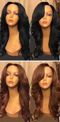 Hair:Free Part Wavy Long Synthetic Wig