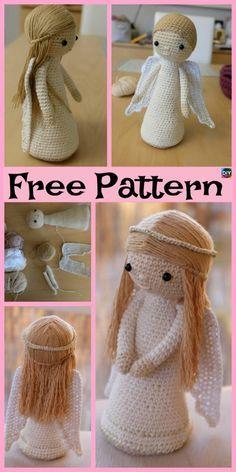 Häkeln Sie Amigurumi Doll Angel - kostenlose Muster Häkeln Sie Amigurumi Doll Angel – kostenlose Muster Crochet Amigurumi Doll Angel – Free Patterns Source by nuritraz