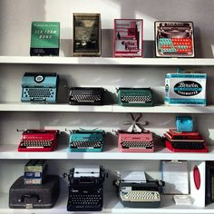 my wall of typewriters — UPPERCASE