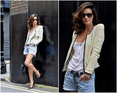 Celine Bag, Ray Ban Sunnies, H Shorts, Acne Top, Isabel Marant Jacket, Acne Belt, Cos Shoes, Tagheuer Watch