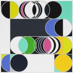 Total Lunar Eclipse 2014 [Rio] by Sarah Morris, 2013, household gloss paint on canvas, 60.04 x 60.04 inches