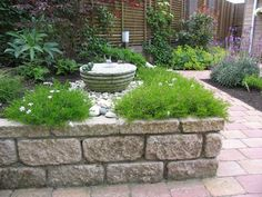 Kleine tuin met verhogingen
