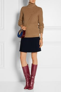 Chloé Leather knee boots NET-A-PORTER.COM