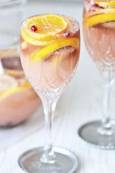 Citrusy Champagne Sangria