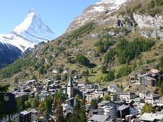 Zermat, Switzerland. Could clearly see the Matterhorn from our hotel windows.