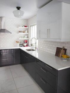 Trendy kitchen countertops with white cabinets soapstone subway tiles ideas Modern Kitchen Sinks, New Kitchen, Kitchen Decor, Bathroom Modern, Kitchen Tips, Kitchen Furniture, Kitchen Ideas, High Gloss Kitchen Cabinets, Diy Kitchen Cabinets