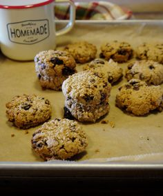 Cecillia優雅過生活: 不使用麵粉也能做出美味的葡萄乾巧克力豆燕麥餅乾